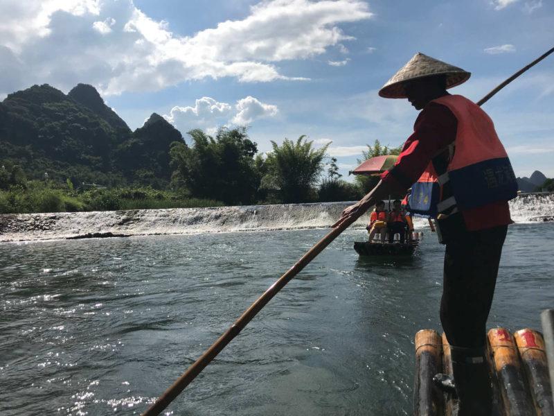 Bamboo rafting I Yangshuo