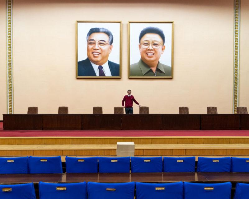 Kim Il Sung og Kim Jong Il