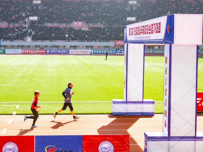 Mor far Nordkorea rejse Pyongyang Marathon