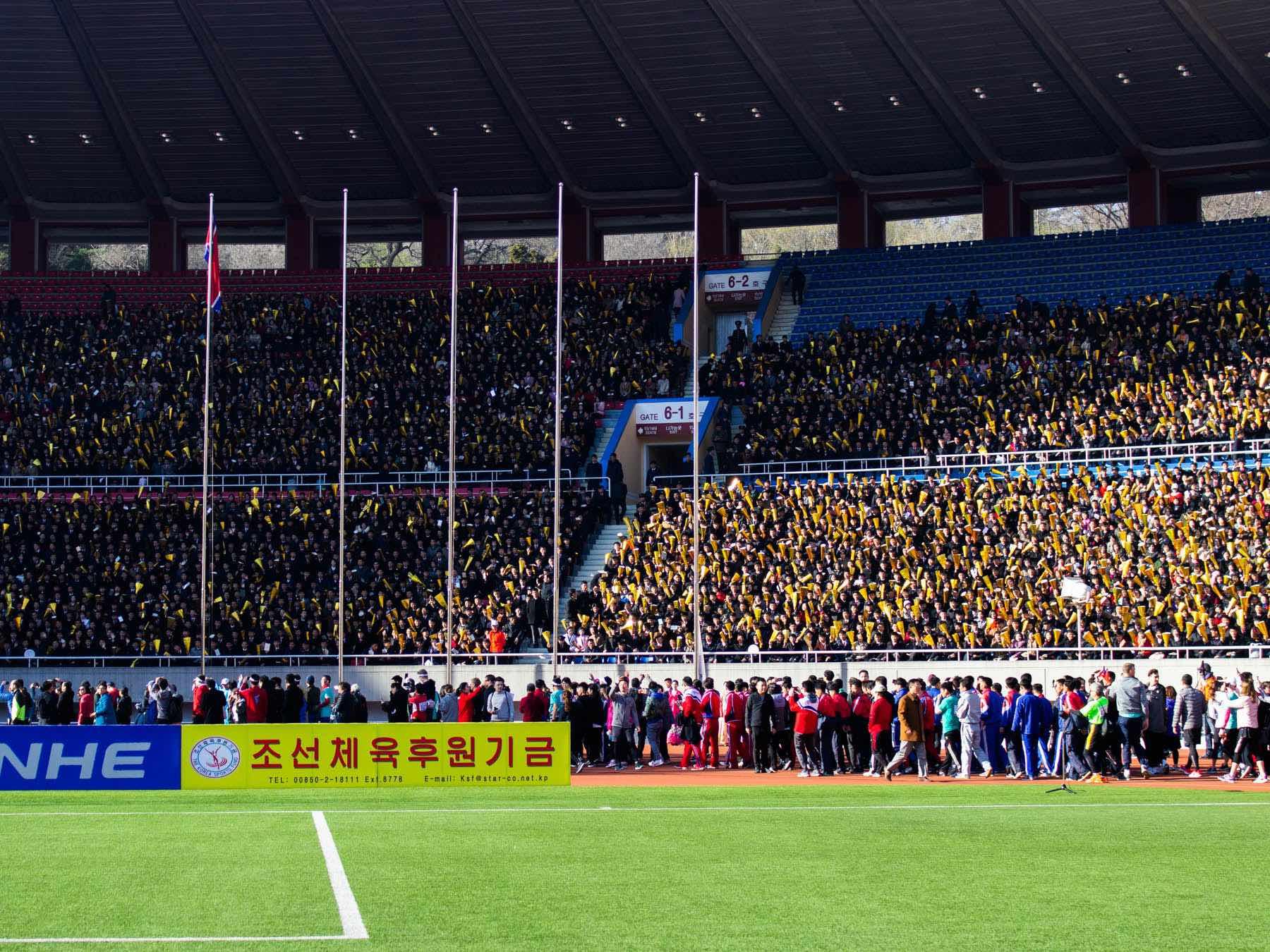 Sådan føles det at deltage i Pyongyang Marathon