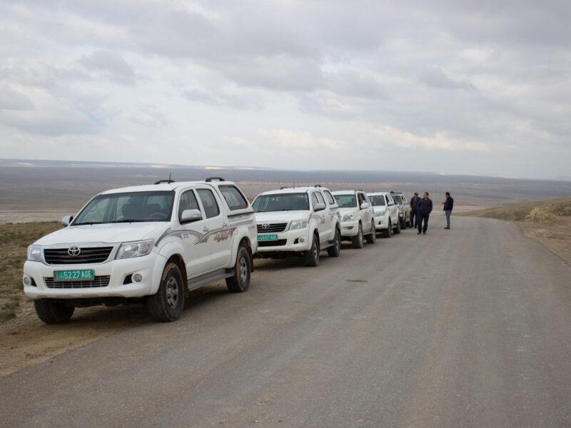Jeep i Turkmenistan