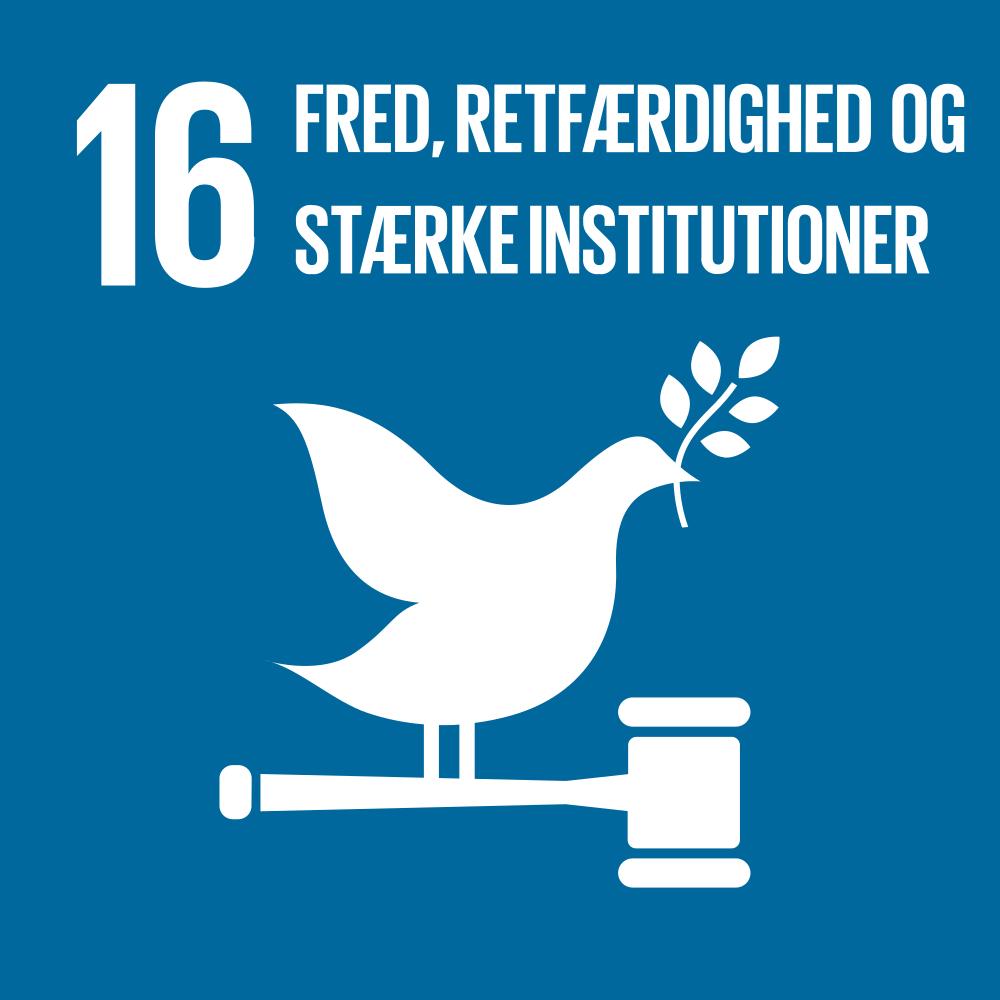 Mål 16 Rejsebureau Fred, retfærdighed og stærke institutioner