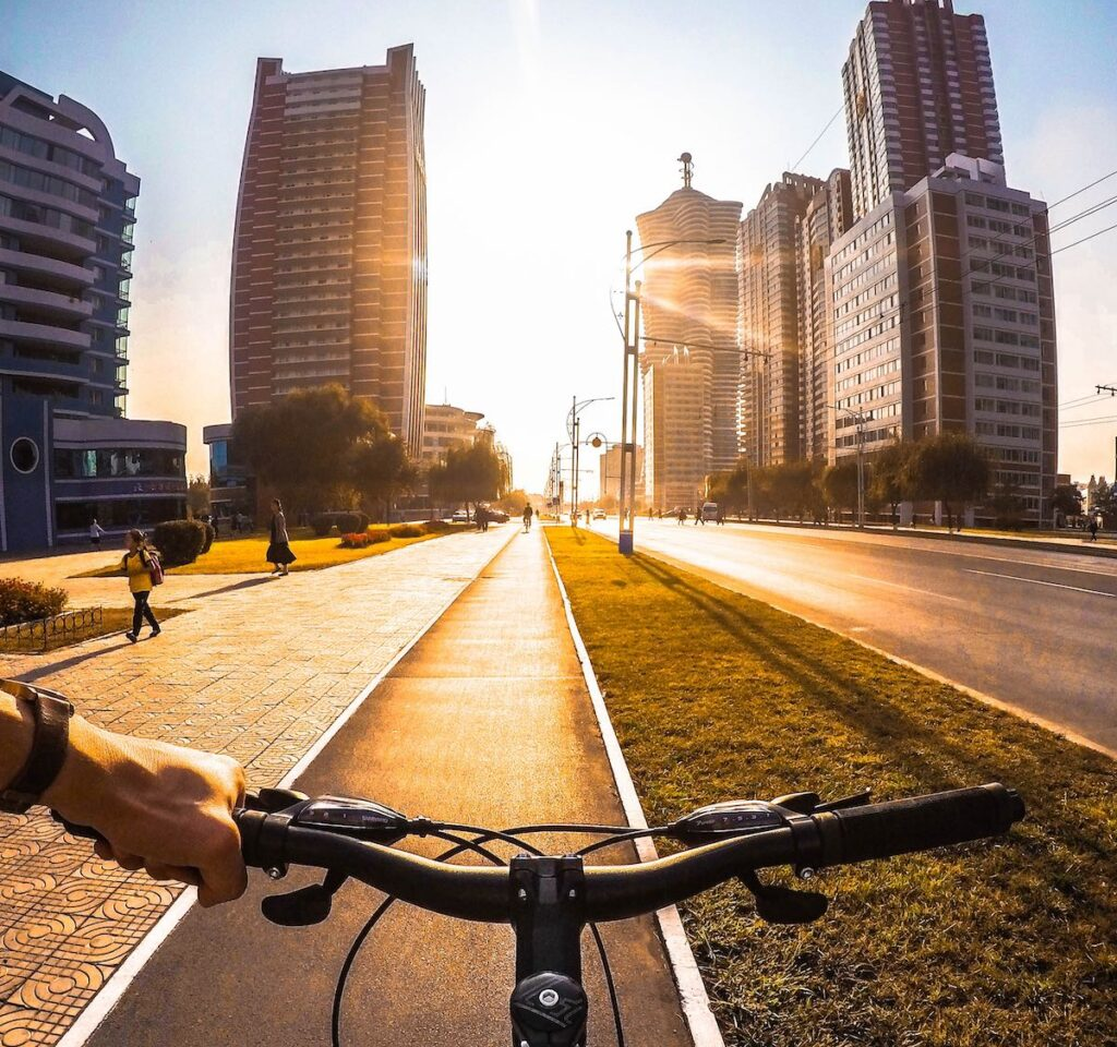 Cykling Pyongyang Nordkorea