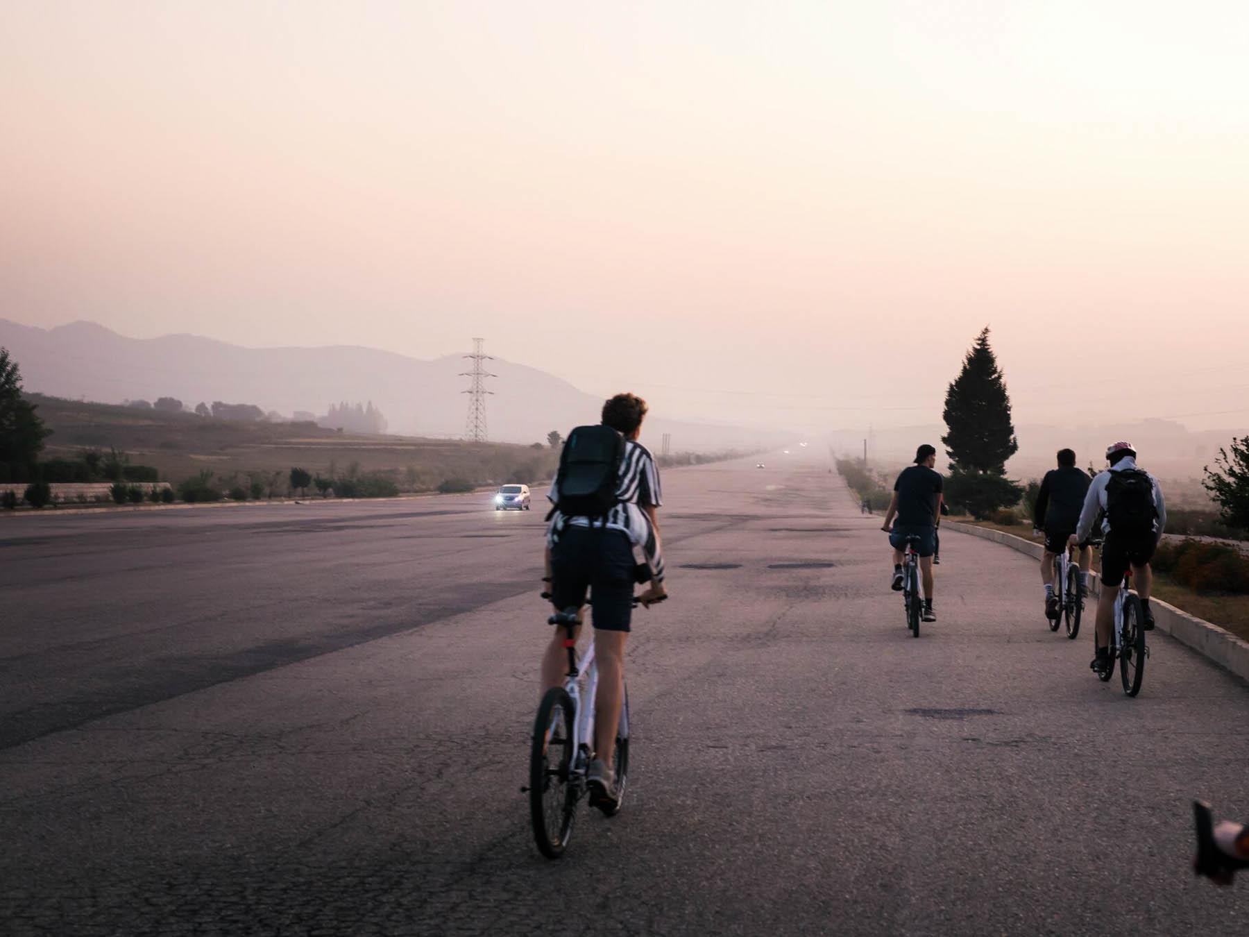 Sådan føles det at cykle i Nordkorea