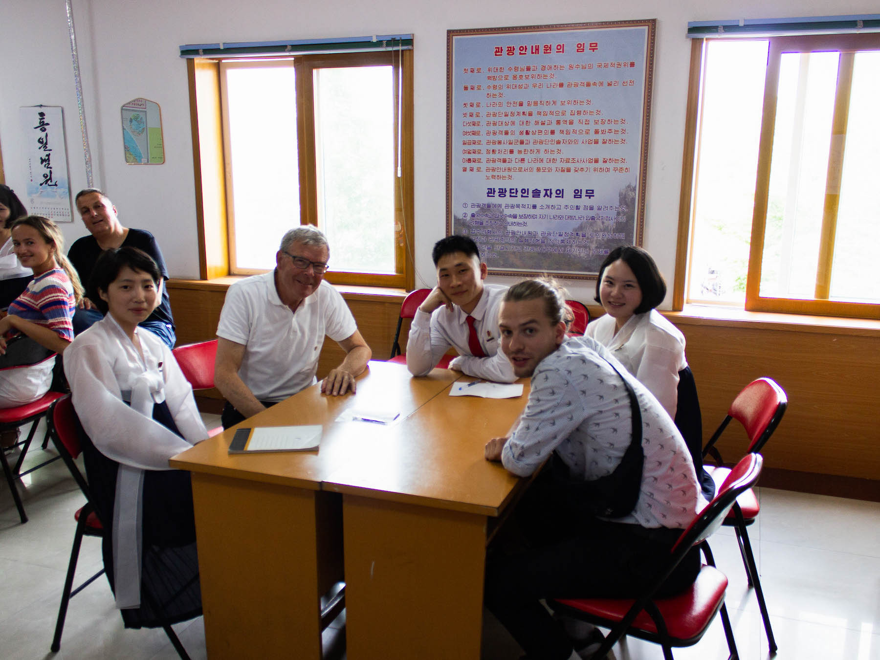 Mødet med de studerende nordkoreanere