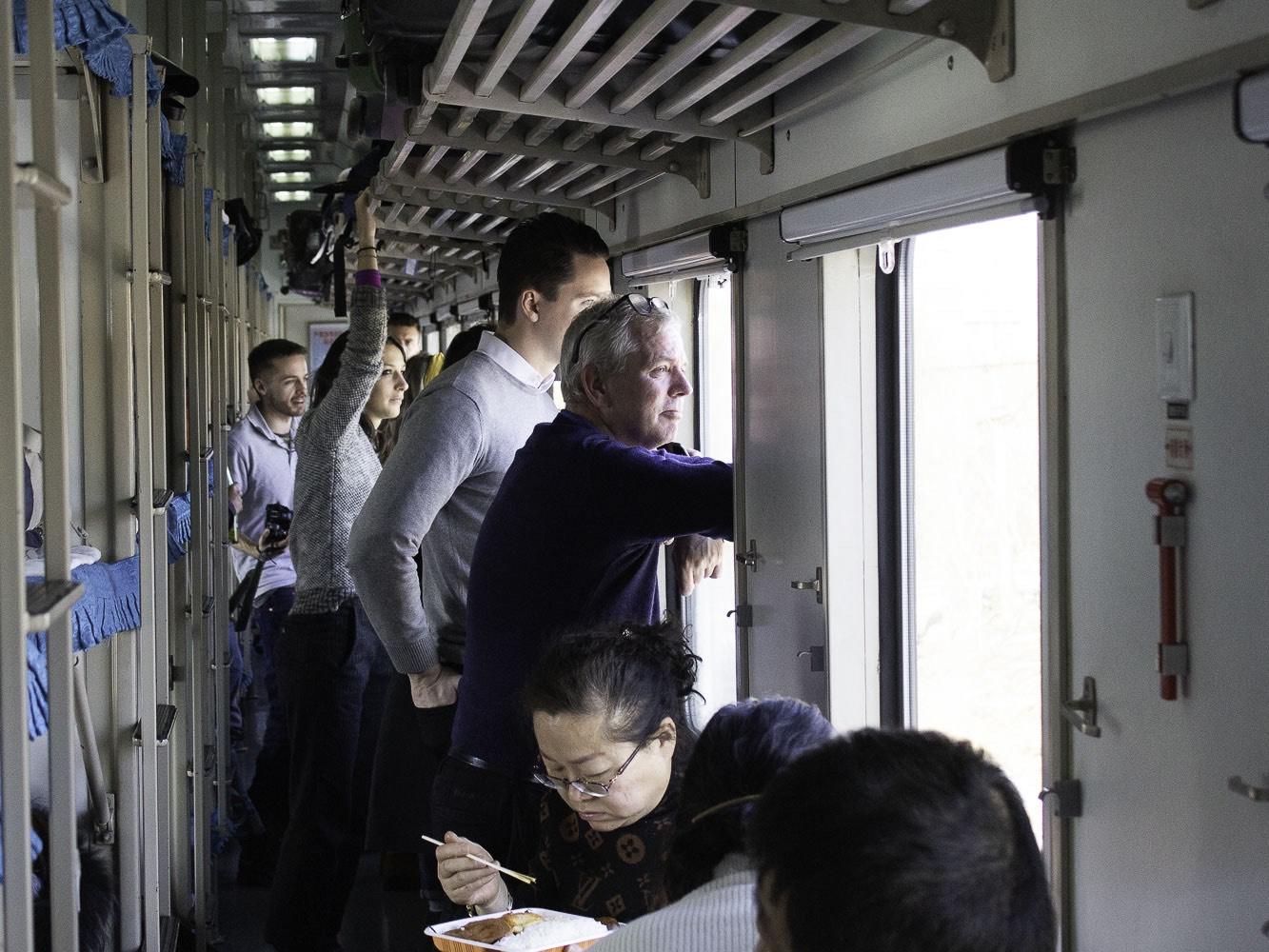 Toget mellem Dandong og Pyongyang