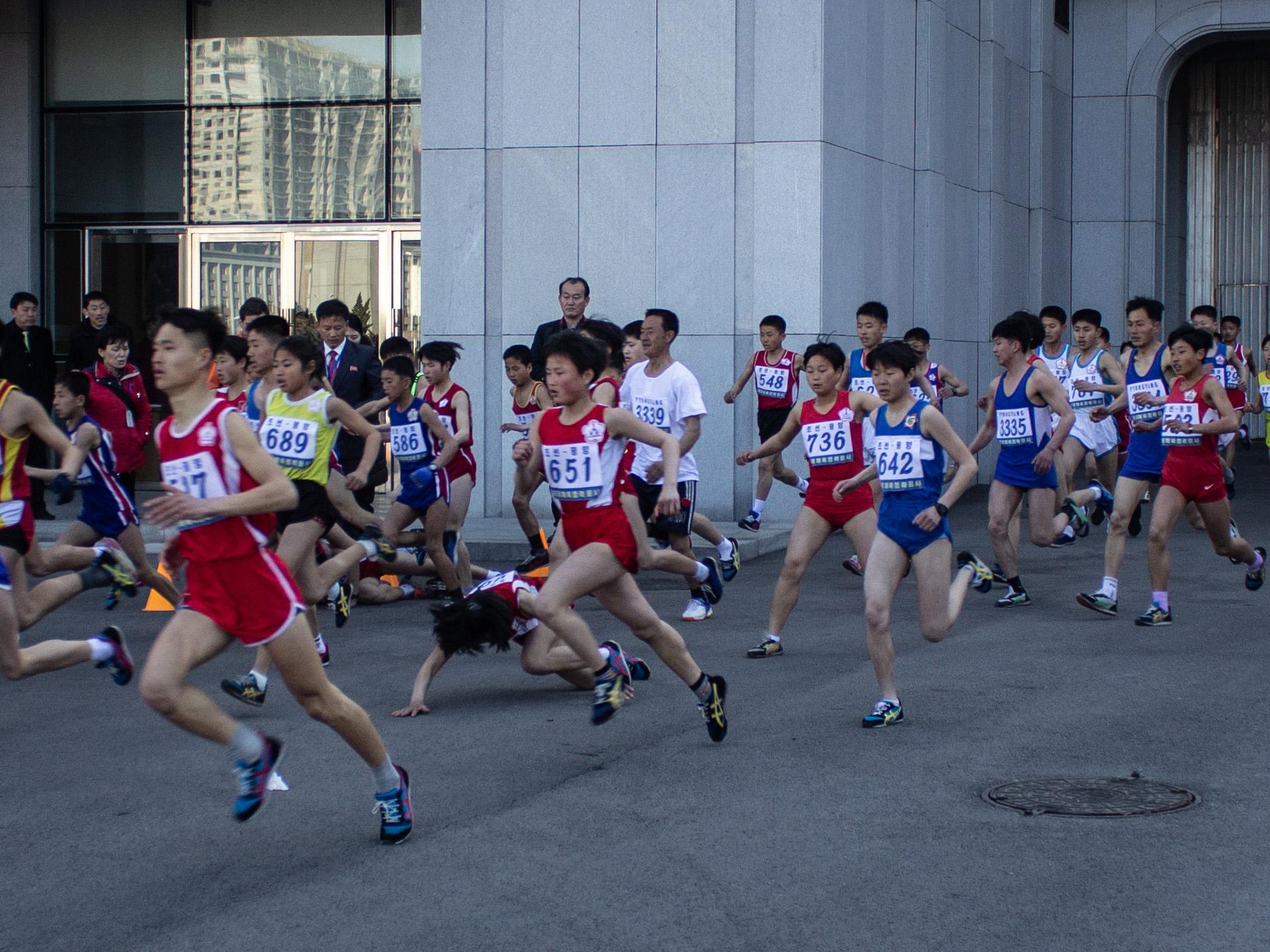 Pyongyang Marathon start