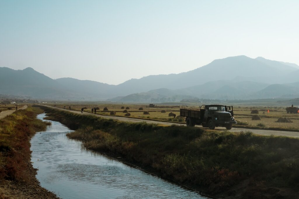 Country side of North Korea